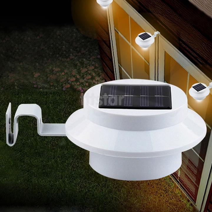 Super Bright Yard Lamp Solar Panel Garden Light 3 LED