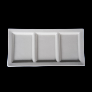 White soild ceramic charge porcelain sublimation plate tapas serving dishes