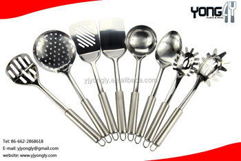 Stainless Steel 8-pieces Utensil Set,Names Of Kitchen Tools,Silver - Buy  Names Of Kitchen Tools,Stainless Steel Serving Utensil Set,Stainless Steel  ...