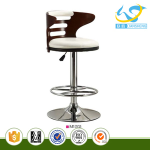 Hollowed-out design lifting wooden bar stools for bar furniture