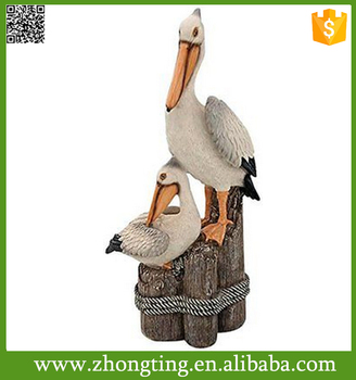 Oceanside Dreams Patio Poolside Garden Decor Ceramic Pelican Statues Large Oriental Product On