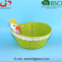 BSCI Audit factory unique design non-woven fabric easter basket