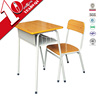 School Desk Specific Use chairs with attached desk / adjustable school desk with bench