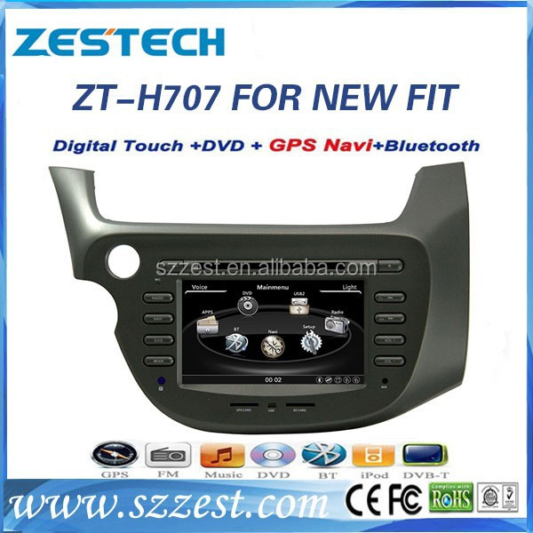 ZESTECH auto dvd for Honda FIT with gps digital tv telephone bluetooth phone book