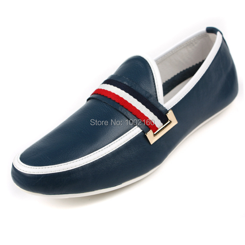 Moccasins 2015 new spring and autumn full grain soft genuine leather Mens fashion Casual patchwork slip-on Loafers shoes Flats