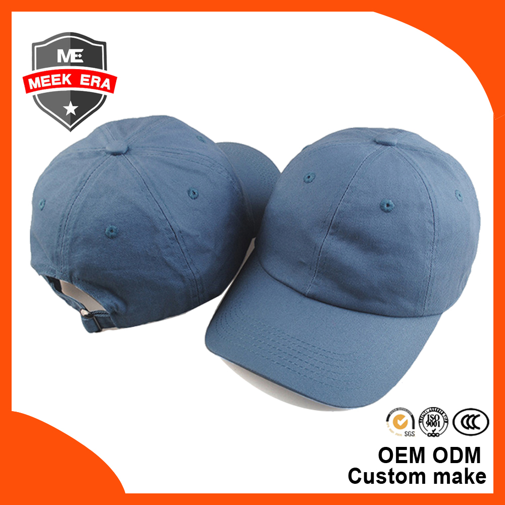 New meek era high quality 6 panel cap custom blank plain cotton twill dad <strong>hat</strong>