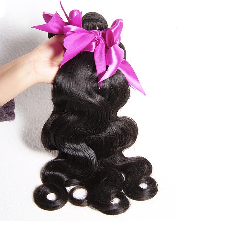 Hot sell 8A Grade hair 100 Virgin Brazilian human hair bundle, Natural color