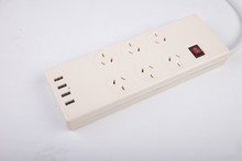 Multi USB power electric travel 6sockets surge protected power board, SAA certified, suitable for AUS/NZ, FIJI