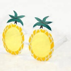 2019 Free Sample Adult Size Pineapple Yellow Colour Cheap Party Sunglasses