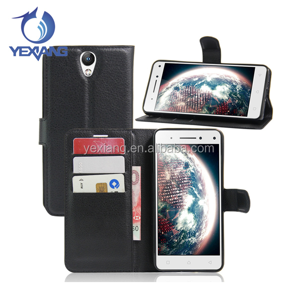 Wholesale Factory Price leather wallet case flip cover case for lenovo vibe s1 lite