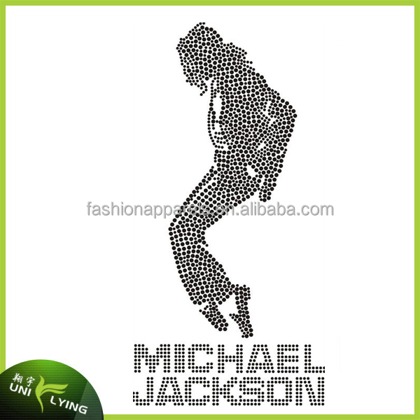 Fashion Michael Jackson Custom Rhinestone Iron On Transfer Wholesale For T-shirt