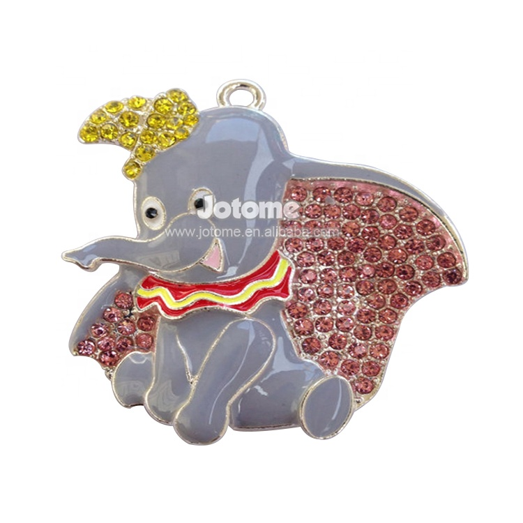 Lovely Elephant Rhinestone Animal <strong>Pendant</strong> For Necklace
