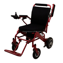 Economic Medical Equipments Lightweight Aluminum Folding Electric Wheelchair with Lithium Battery and Brushless Motor