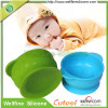 Eco-friendly heat resistant silicone easy scoop feeding bowl