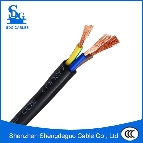300/500v h05vv-f pvc insulated copper flexible round cable 3g 2.5mm