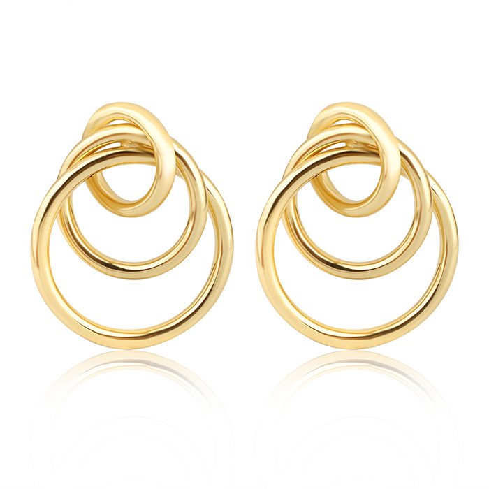 2017 New Trendy Products Silver Gold 5 Hoop Earrings For Women