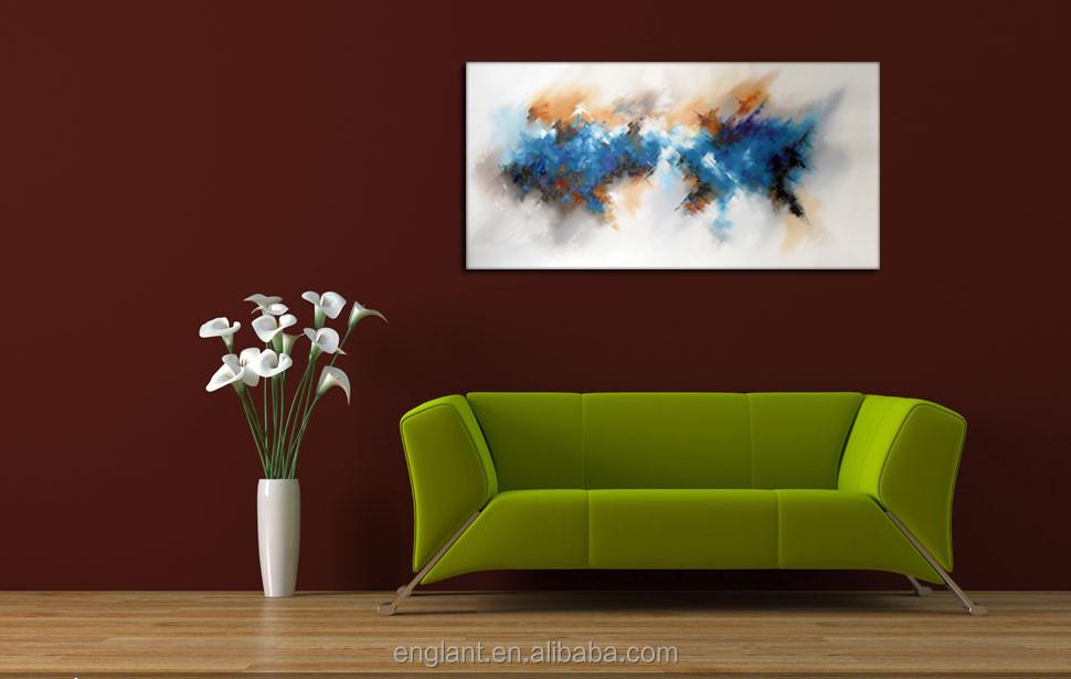 Interieur decoratie moderne canvas kunst abstract schilderij ontwerpen schilderen kalligrafie - Decoratie interieur trap schilderij ...