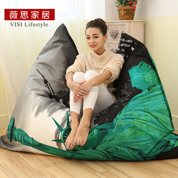 Waterproof Garden Outdoor Indoor Bean Bag Sofa Chair Removable Covers Lazy Soft Beanbag Bed