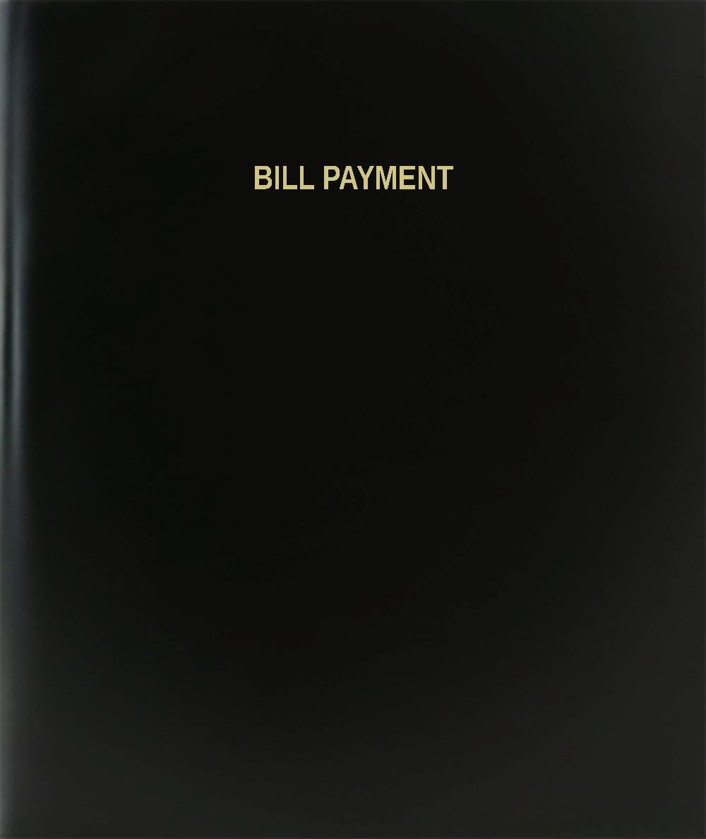 "BookFactory® Bill Payment Log Book / Journal / Logbook - 120 Page, 8.5""x11"", Black Hardbound (XLog-120-7CS-A-L-Black(Bill Payment Log Book))"