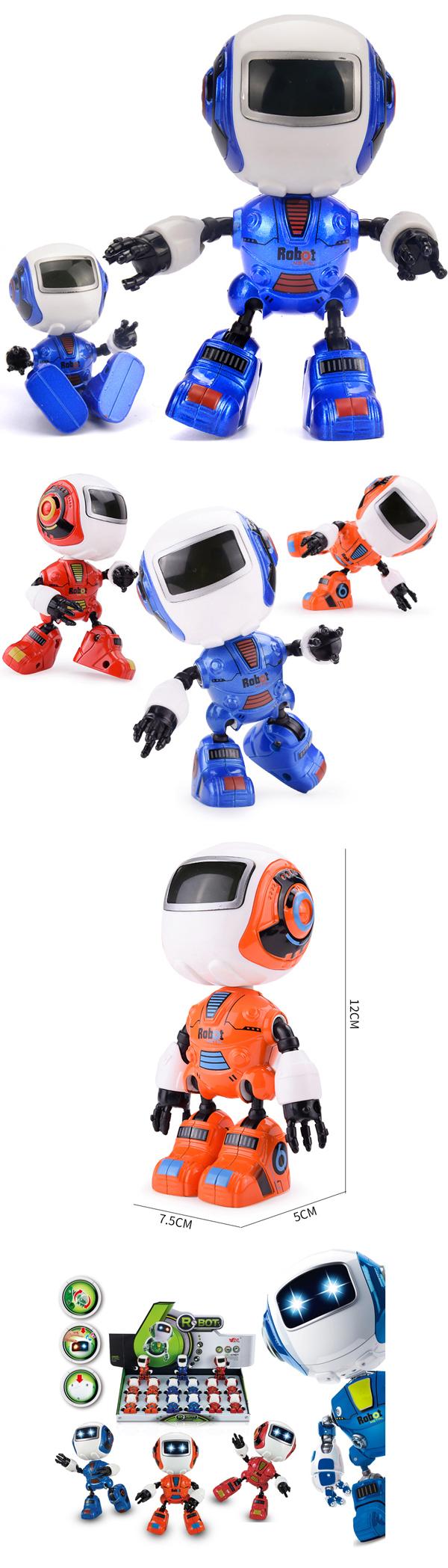 Tương Tác Cảm Ứng Diecast Trẻ Em Robot Đồ Chơi Mô Hình Với Ánh Sáng Và Âm Thanh