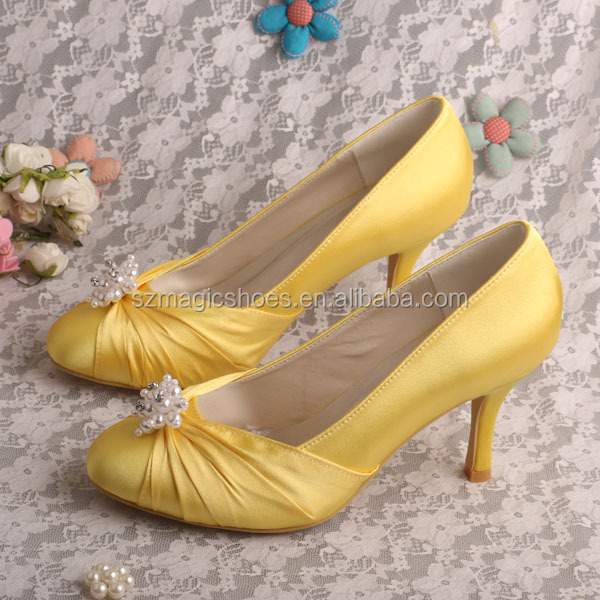Women Yellow Shoes High <strong>Heel</strong> 8CM