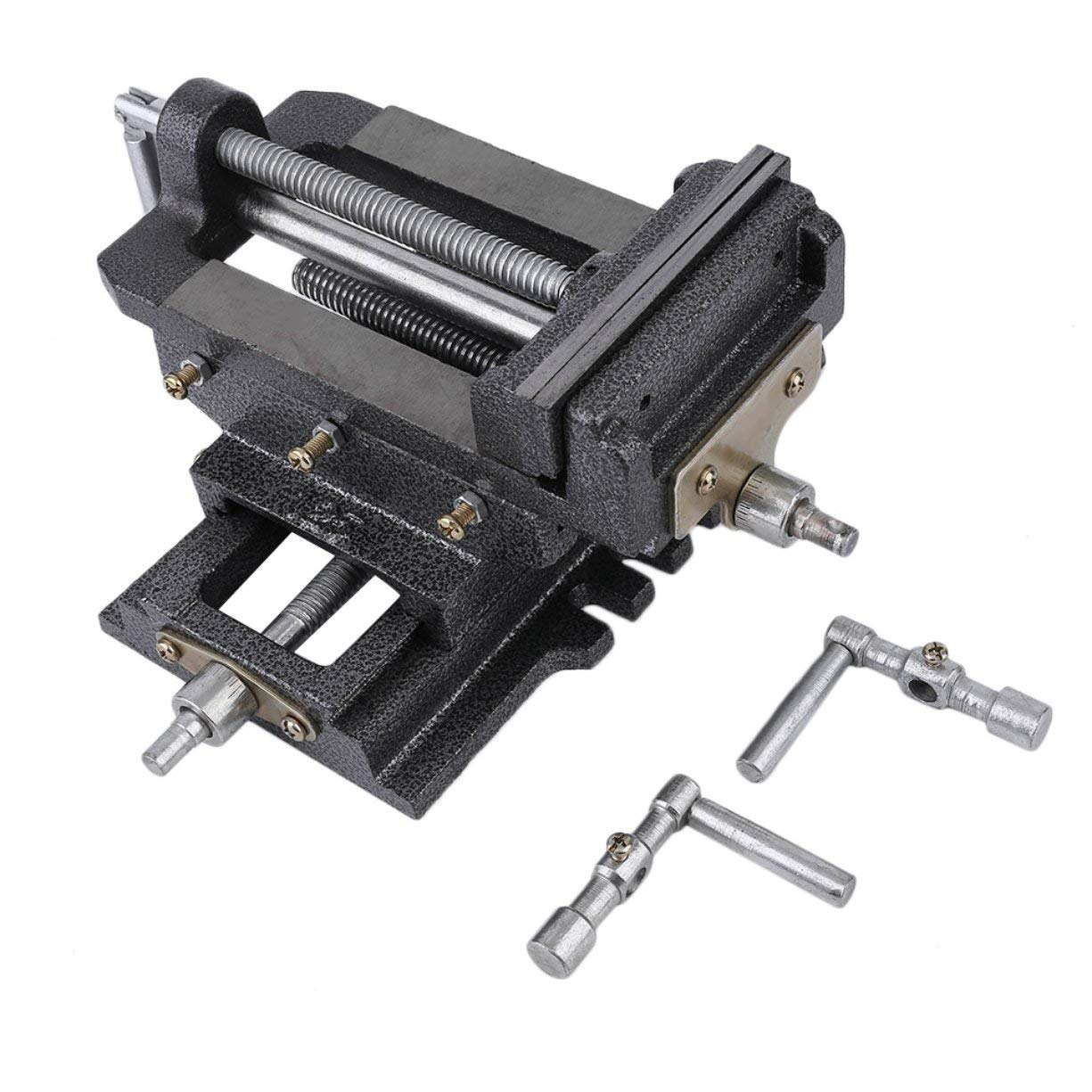 Get Quotations · Detectoy 5 Inch 2 Way Cross Drill Press Vise Solid  SteelX-Y Clamp Machine Slide