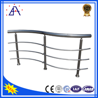 High Quality 8ft.x36 in. Silver Anodized High Style Modestly Priced Stair Handrail