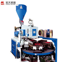 Full automatic rotary injection molding machine with 24 work stations for making shoe sole