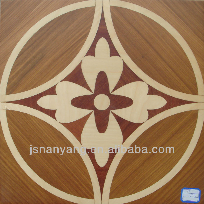 HOT design burma teak and maple art parquet flooring