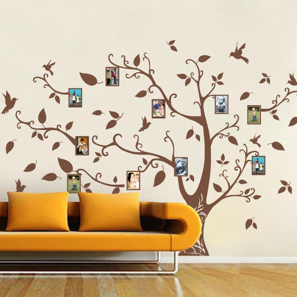 Get Quotations · MairGwall Family Tree Wall Decals Children Vinyl Wall  Decals Wall Stickers Nursery Tree Wall Art