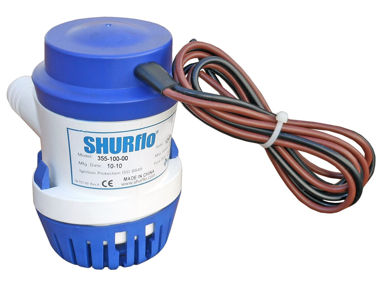 Marine Electric Bilge Pump for Boats Caravan & Rv-1000 Gph 12v - Shurflo