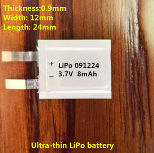 Hot Sale Small 3.7V Customized Ultra Thin Soft Battery 8mAh new model 091224