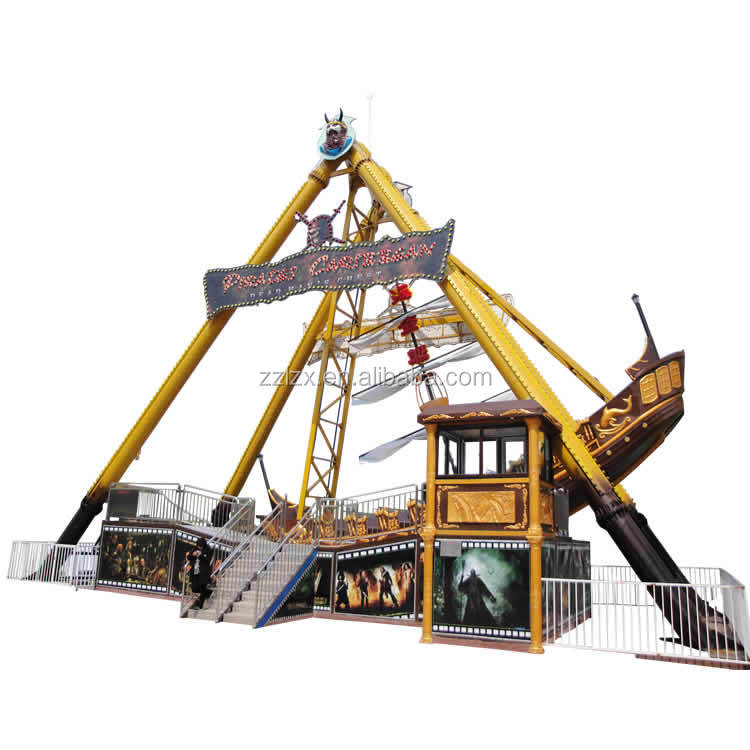 Enjoy your happy time in amusement park!! Hotfun thrilling pirate ship 40 seats pirate boat