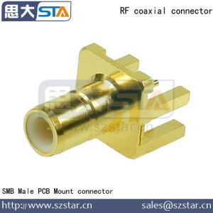 RF Coaxial Connector SMB Plug PCB Edge Mount connector