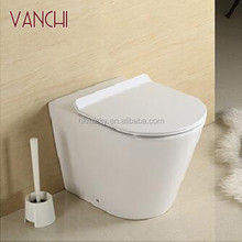 Bathroom ceramic round one piece ups vaccum toilet wc parts