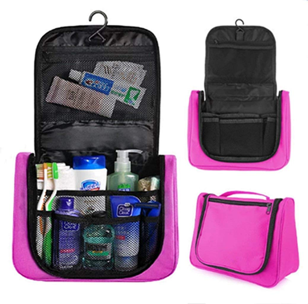 Get Quotations · elegantstunning Fashionwu Multifunctional Travel Package  Waterproof Wash Bag Hanging Toiletry Kit Organizer Pink 209f26382097b