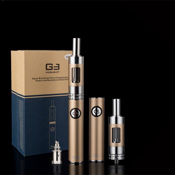 New Arrival Product!!! GS G3 starter kit big smoke e cigarette with 900mAh bottom double charging