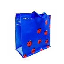 Supermarkets pp woven fabrics laminated shopping bag
