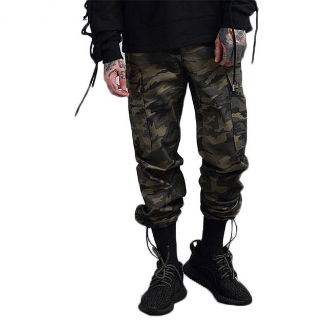 Hombres multi bolsillos pantalones camuflaje pantalones cargo Pantalones 986cd5a80e8