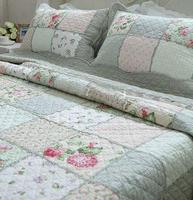 Country Rose Patchwork Bedspread Quilt