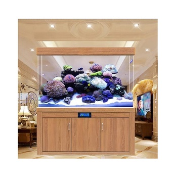 Customized Fish Tank Aquarium Household Bottom Filtration Eco-free Water Glass for Living Room
