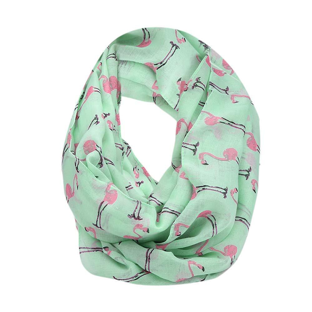 IEason Scarf Women Ladies Flamingos Pattern Print Voile Wrap Shawl Scarf