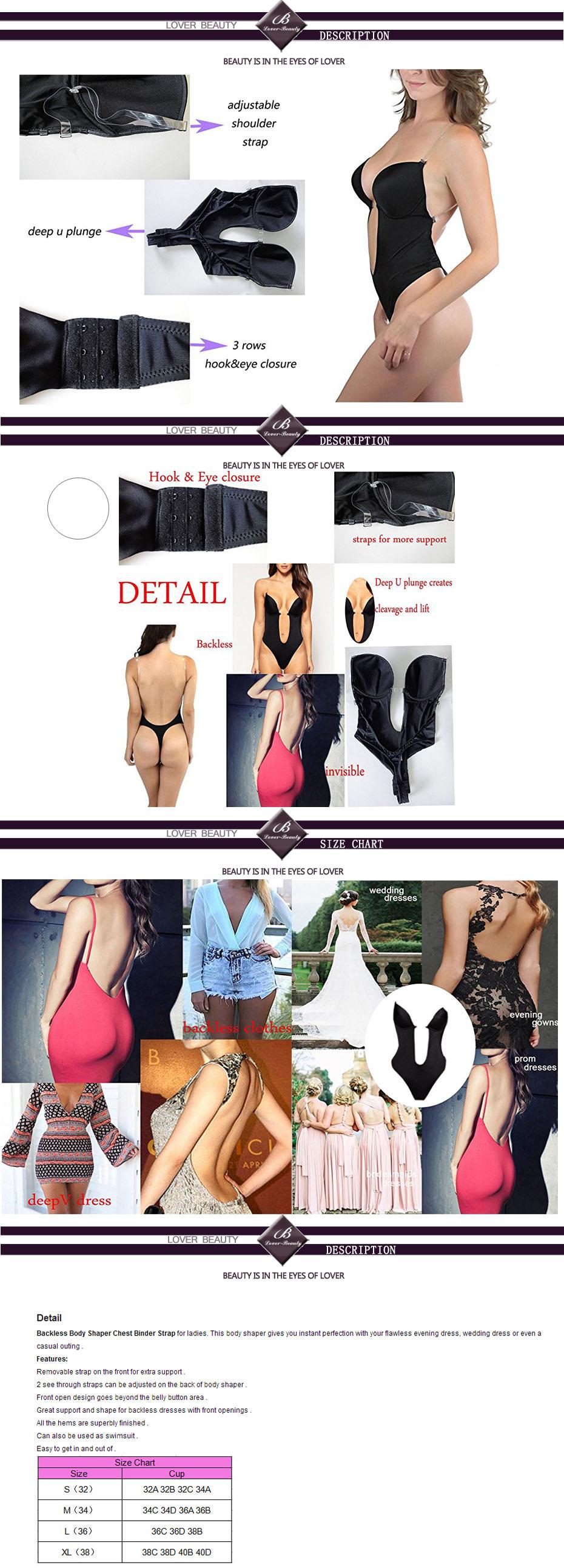 5eaba69b6c 2019 Lover Beauty Women S Shapewear U Plunge Backless Strapless ...