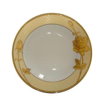 Factory Wholesale Luxury Super White Porcelain Gold Rim China Dinner ...