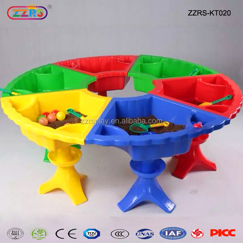 playground and kindergarten children sand and water table for outdoor