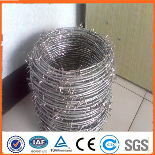 Anping factory price stainless steel barbed wire ration military (ISO certification)