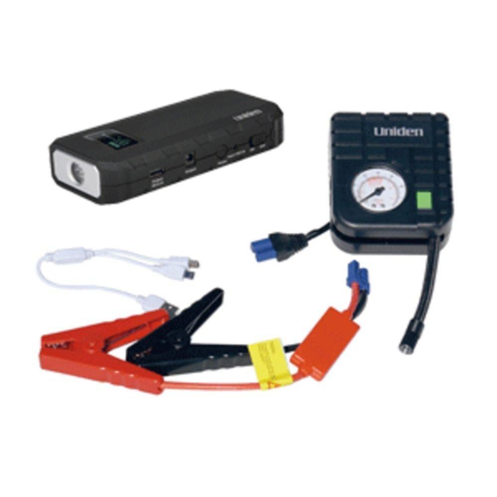 Uniden Emergency Power Pack Jump Starter w/12,000mAh & Air Pump w/Carry Case - Black consumer electronics