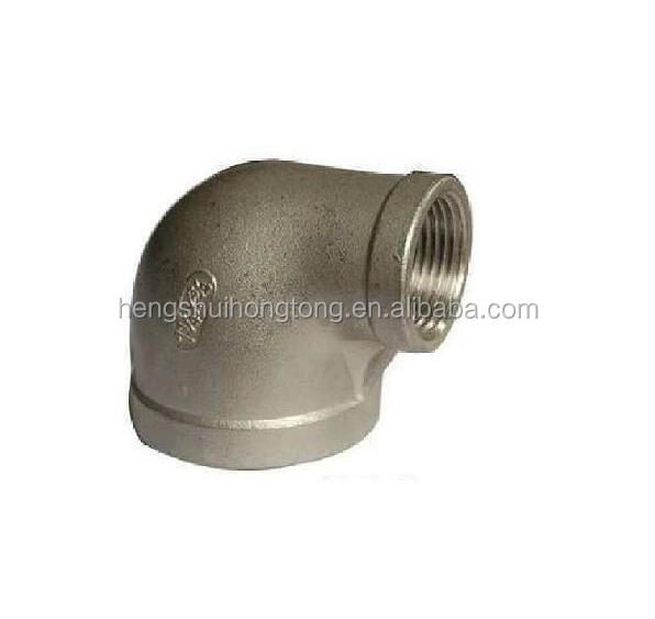 90 Degree Stainless Steel Screwed Reducer Swivel Elbow