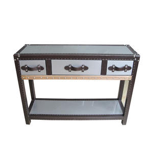 Antique stainless steel console table