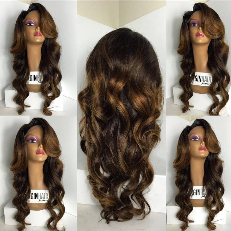 Brazilian Tangle Free Wigs ombre hair lacefront wig human hair with baby hair